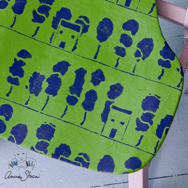 Annie Sloan Schablone Trees