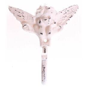 Kleiderhaken Engel weiss im Shabby Look