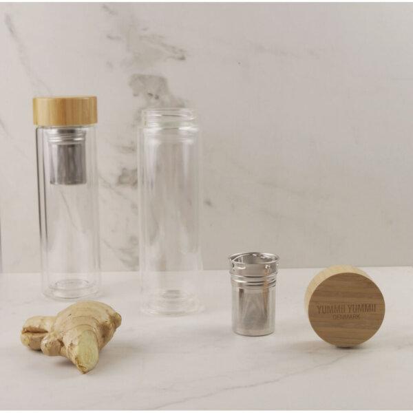 Thermosflasche Glas