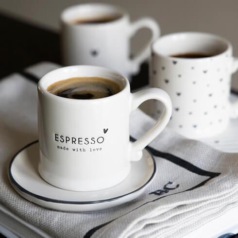 Espressotasse schwarz