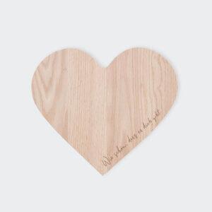 Holzbrett von Eulenschnitt, Herz