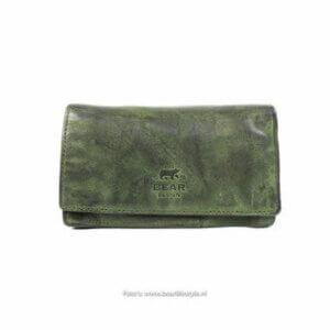 Mittelgrosses Portemonnaie grün von Bear design
