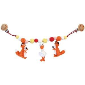 Kinderwagenkette von Sindibaba Fuchs orange