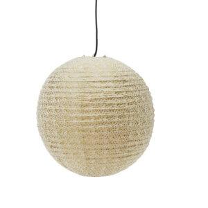 Lampenschirm aus Lokta Papier mit goldenen Sternen
