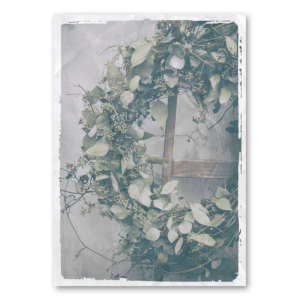 Canvas mit Eukalyptuskranz