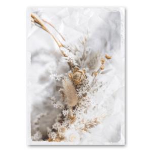 Canvas Kranz mit Trockenblumen