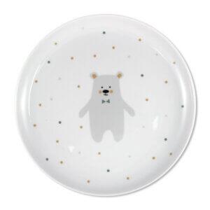 Porzellanteller für Kinder, Eisbär