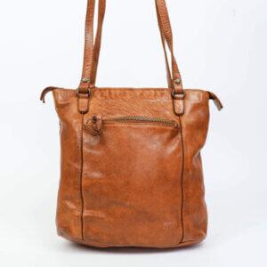 Lederrucksack und Umhängetasche in einem - Sandy Cognac
