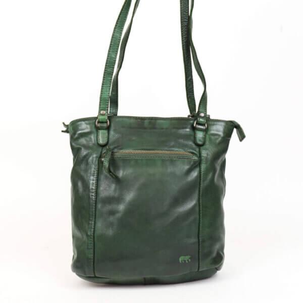 """Umhängetasche und Rucksack in einem von bear design """"Sandy"""" grün"""