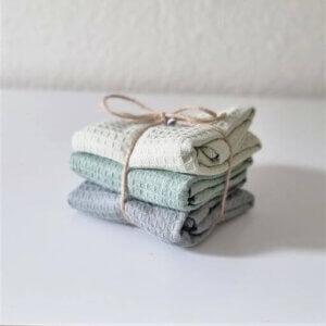 Madleys Handtuch aus Waffelstoff grün
