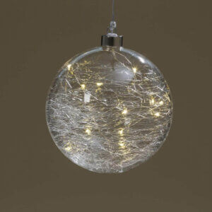 Kugel mit Glassplitter, LED
