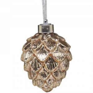 LED Zapfen aus Glas, gold klein