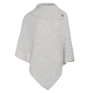 knitfactory poncho beige winter herbst unterwegs wollmischung