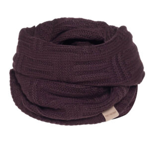 knit factory bobby aubergine loopschal