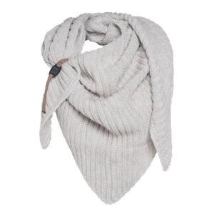 knit factory beige dreiecksschal herbst winter