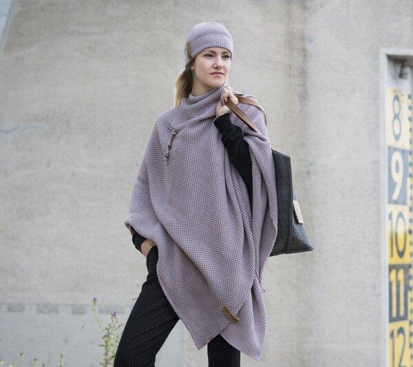 knit factory mauve Mütze winter
