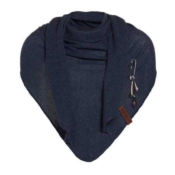 Lola knitfactory navy dreiecksschal