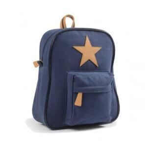 lederstern rucksack blau