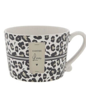 bastion Collection leopard coffee love tasse