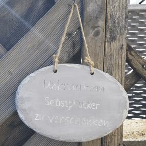 Unkraut Schild Garten