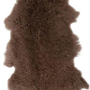 tibetisches Lammfell dunkelbraun