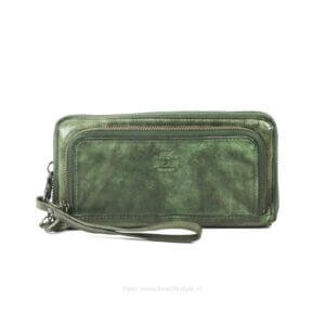 Portemonnaies grün Leder Bear Design