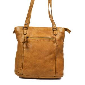 Sandy gelb Bear design Leder Tasche Rucksack