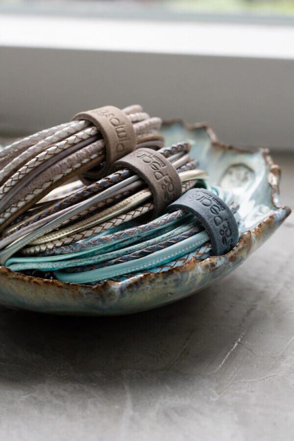 Unterwegs pimps&pearls leder armband kette
