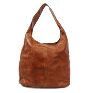 Yvonne Bear Design Handtasche Beutel cognac ledertasche leder