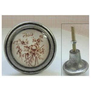 Möbelknopf Metall antique Look Vintage Lafinesse