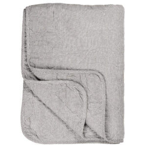 Ib Laursen Decke Quilt Tagesdecke Grau gestreift