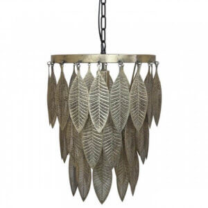 Chic Antique Antik Look Lampe Blättern Metall