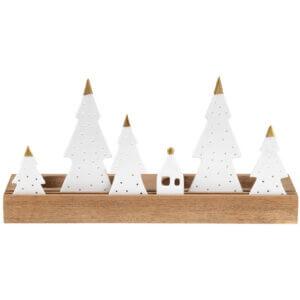 Räder Design Advent gold Textbotschaften Weihnachten Tannen Teelichter