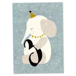 Card Postkarte Ava & Yves elephant