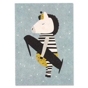 Card Postkarte Ava & Yves Zebra