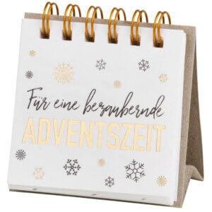 Räder Design Advent gold Textbotschaften Weihnachten silber