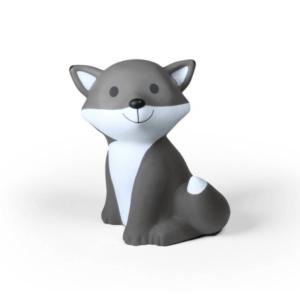 Spardose Fuchs grau
