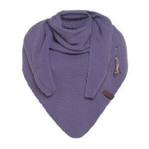 knitfactory coco Dreieckstuchcho winter herbst unterwegs wollmischung violett