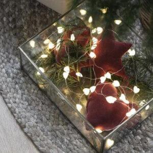 Stillenat Christmas Weihnachten Stern Herz OB Laursen Lichterkette Batterien LED Lichter
