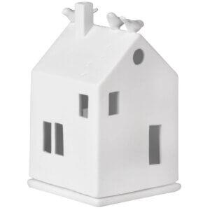 Lichthaus Vogelhaus Räder Design Weiss Porzellan Vogel Teelicht Windlichter