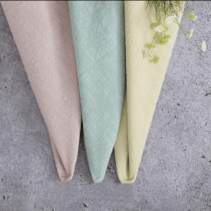 Krasilnikoff Servietten Unifarben rosa grün gelb grau Baumwolle