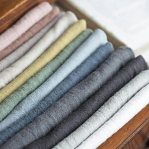 IB Laursen Stoffservietten rosa hellblau grau beige Baumwolle Tisch