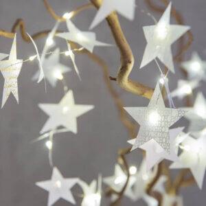 Sternenlichterkette Gold Silber Räder Design Adventdekorationen Winterzeit Deko Winter Sterne